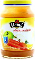 Пюре Hame яблуко-морква 190г х10