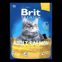 Корм Brit Premium д/дорослих котів сухий з лососем 1,5кг х2