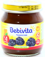 Пюре Bebivita фруктове Чорнослив 100г х6