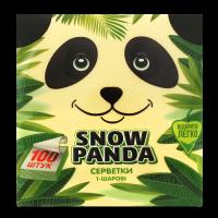 Серветки паперові столові Сніжна Панда 24*24см Жовті, 100 шт.