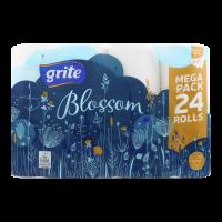 Туалетний папір Grite Blossom Білий, 24 шт.