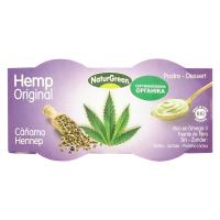 Десерт NaturGreen рослинний органічний з насіння коноплі 2*125г