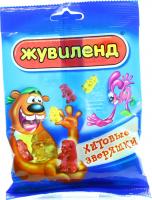 Цукерки АВК Жувіленд Хітові звіряшки 85г х16
