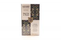 Чай Newby Black&Thyme чорний байховий 25пак 50г х12