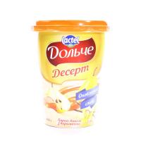 Десерт Lactel Дольче груша-ваніль з карамеллю 3,4% 400г х12