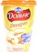 Десерт Lactel Дольче Груша-ваніль з карамеллю 3,4% 400г х6