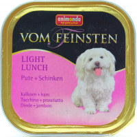 Корм Vom Feinsten з індичкою та шинкою для собак 150г