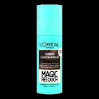 Спрей тонуючий L`Oreal Magic Retouch 75мл темно-каштановий