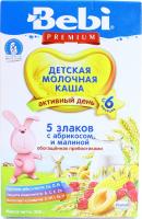 Каша Bebi 5 злаків молочна 200г