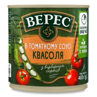 Квасоля Верес в томатному соусі 400г ж/б х12