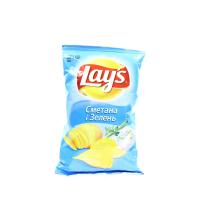 Чіпси Lays сметана і зелень 30г х36