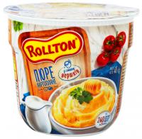 Пюре Роллтон картопляне зі смаком вершків 40г стакан х24