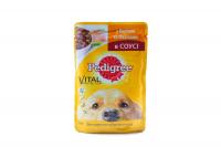 Корм Pedigree д/дорос.собак з курк.та овоч.в соусі 100г х24
