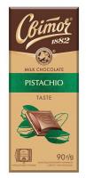 Шоколад Світоч молочний з арахісовою пастою 90г