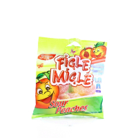 Цукерки Figle Migle Sour Peaches Персики 80г х12