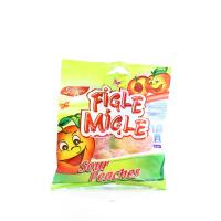 Цукерки Figle Migle Sour Peaches Персики 80г х12