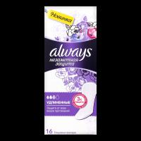 Щоденні гігієнічні прокладки Always Непомітний Захист Подовжені, 16 шт.