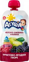 Пюре Агуша яблуко-ожина-малина д/п 90г