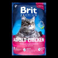 Корм Brit Premium д/дорослих котів сухий з куркою 1,5кг х2