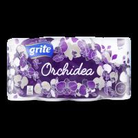 Туалетний папір Grite Orchidea Gold Білий, 8 шт.