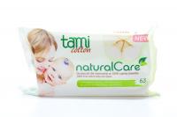 Серветки Tami Cotton вологі для дітей 63шт. х6