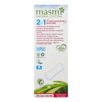 Щоденні гігієнічні прокладки Masmi Organic Ultra Thin 2в1, 24 шт.