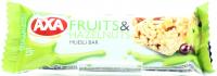 Батончик Axa зерновий з фруктами та горіхами 23г х24