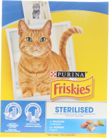 Корм Purina Friskies д/котів Sterilised лосось,овочі 270г х8