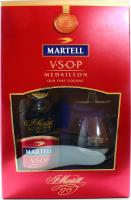 Коньяк Martell VSOP 0,7л + 2 келихи (набір)