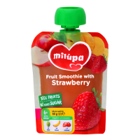 Пюре Nutricia Milupa фруктове Яблуко,банан і полуниця 80г