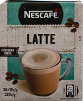 Напій Nescafe кавовий розчинний Latte 16г х20