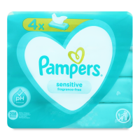 Дитячі серветки вологі гігієнічні Pampers Sensitive, 208 шт.