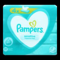 Серветки Pampers Sensitive вологі дитячі 4*52шт. х12