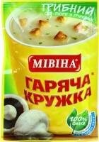 Суп-пюре Мівіна Грибний з грінками 15г х32