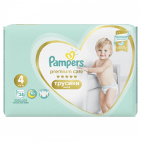 Підгузки Pampers premium care трусики 4 9-15кг 38шт