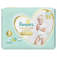 Памперси Pampers Premium care трусики 5 12*17кг 34шт