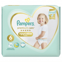 Памперси Pampers Premium care трусики 6 15+кг 31шт