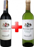 Вино GVG Chantecaille Bordeaux Rouge червоне сухе 12,5% + Sauvignon Blanc біле сухе 11,5% 0,75л*2 шт (набір)