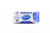 Серветки Smile Antibacterial вологі 60шт х6