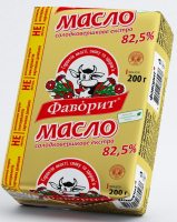 Масло Фаворит солодковершкове екстра 82,5% 200г