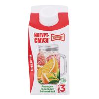 Йогурт Злагода смузі апельсин-грейпфрут-зелений чай 280г х10