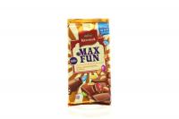 Шоколад Корона Maxfun арахіс, колор.драже, карамель 160г х12