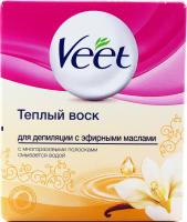 Віск теплий для депіляції Veet з ефірними оліями, 250 мл