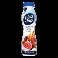 Йогурт Біла Лінія мюслі-інжир нежирний пет 250г
