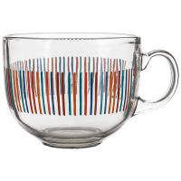 Чашка скляна в асортименті 435мл Banquet Чехія