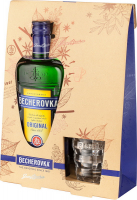 Настоянка Becherovka 38% 0,7л +бокал