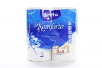 Рушники паперові рулонні Grite Komforto Білі, 2 шт.