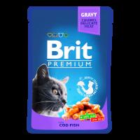 Корм Brit premium з тріскою 100г х6