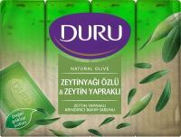 Мило тверде Duru Natural Olive Оливкова олія та листя оливи, 4 шт.*150 г