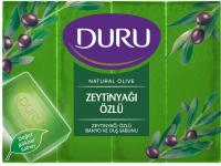 Мило туалетне тверде Duru Natural Olive Оливкова олія, 4 шт.*150 г